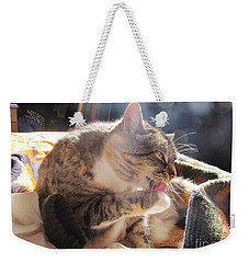 Weekender Tote Bag featuring the photograph Morning Wash 2 by Dianne  Connolly