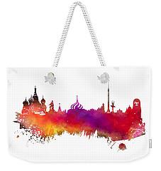 Moscow Skyline Weekender Tote Bag by Justyna JBJart