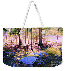 Weekender Tote Bag featuring the photograph Mossy Ground by Shirley Moravec