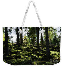 Weekender Tote Bag featuring the photograph Mossy Rocks by Kennerth and Birgitta Kullman