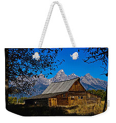Weekender Tote Bag featuring the photograph Moulton Barn by Norman Hall