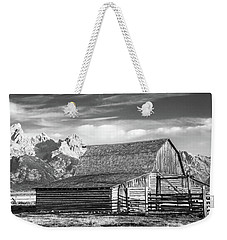 Weekender Tote Bag featuring the photograph Moulton Homestead - Barn by Colleen Coccia