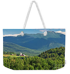 Weekender Tote Bag featuring the photograph Mount Mansfield Summer by Alan L Graham