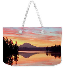 Mount Rainier Dawn Weekender Tote Bag