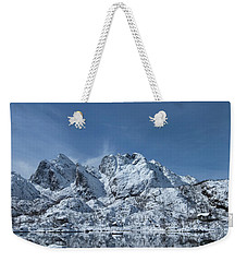 Mountain Reflection Weekender Tote Bag by Frank Olsen