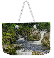 Mountain Waterfall Weekender Tote Bag by Ian Mitchell