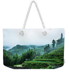 Mountains Scenery In The Mist Weekender Tote Bag