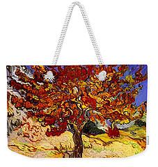 Weekender Tote Bag featuring the painting Mulberry Tree by Van Gogh