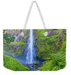 Weekender Tote Bag featuring the photograph Multnomah Falls by Jonny D