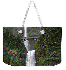 Multnomah Falls Weekender Tote Bag by Scott Cameron