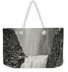 Multnomah Falls Upclose Weekender Tote Bag by Don Schwartz