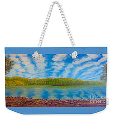 My Serenity Lies In A Place Between Heaven And Earth Weekender Tote Bag
