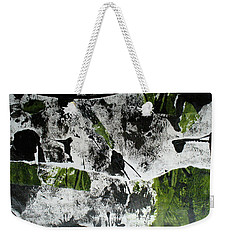 Weekender Tote Bag featuring the mixed media Mysterion II by Mary Sullivan