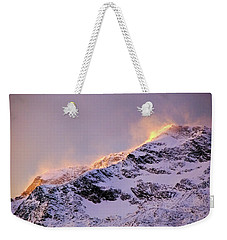 mystery mountains in North of Norway Weekender Tote Bag