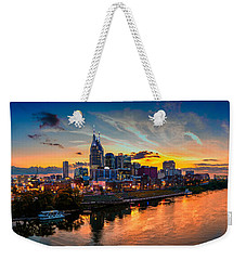 Nashville Skyline Panorama Weekender Tote Bag by Brett Engle