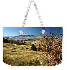 National Bison Range Weekender Tote Bag by Cindy Murphy - NightVisions
