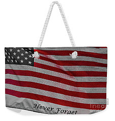 Weekender Tote Bag featuring the photograph Never Forget by Jim Lepard
