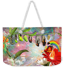 Weekender Tote Bag featuring the digital art New Life by Dolores Develde