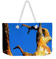 New Orleans Bird Tree Sculpture In Louisiana Weekender Tote Bag