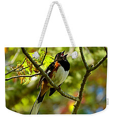 Towhee In Song Weekender Tote Bag