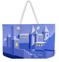 Night Castle Weekender Tote Bag