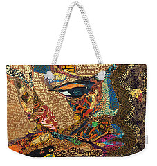 Weekender Tote Bag featuring the tapestry - textile Nina Simone Fragmented- Mississippi Goddamn by Apanaki Temitayo M