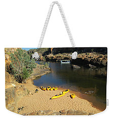 Nitmiluk Gorge Kayaks Weekender Tote Bag by Tony Mathews