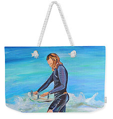 Weekender Tote Bag featuring the painting Noah by Patricia Piffath