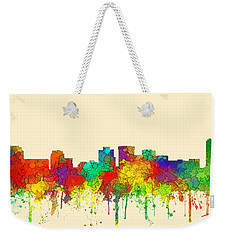 Norfolk Virginia Skyline Weekender Tote Bag by Marlene Watson
