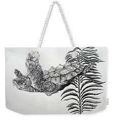 Weekender Tote Bag featuring the drawing Norman by Mayhem Mediums