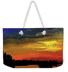North Shore Route Weekender Tote Bag by R Kyllo