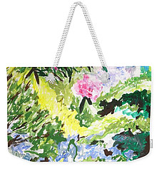 Weekender Tote Bag featuring the painting Northern Glen by Esther Newman-Cohen