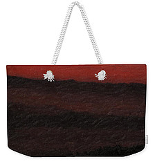Not Quite Rothko - Blood Red Skies Weekender Tote Bag
