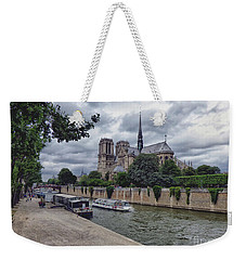 Notre Dame Paris Weekender Tote Bag by Lynn Bolt