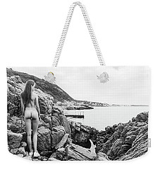 Nude Girl On Rocks Weekender Tote Bag