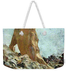 Weekender Tote Bag featuring the painting Nude Study by Henry Scott Tuke