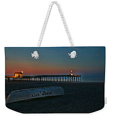 Ocean City  N J Sunrise Weekender Tote Bag