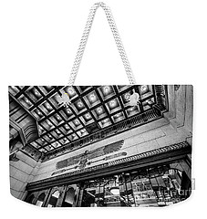 Weekender Tote Bag featuring the photograph Ogden's Historic Peery's Egyptian Theater At Night by Gary Whitton