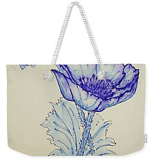 Oh Poppy Weekender Tote Bag by Marna Edwards Flavell