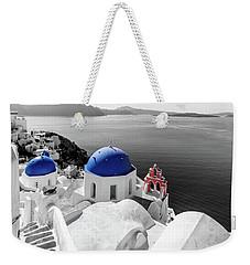 Oia, Santorini - Greece. Weekender Tote Bag
