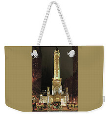 Old Chicago Water Tower Weekender Tote Bag