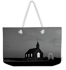 Old Countryside Church In Iceland Weekender Tote Bag