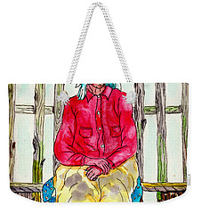 Old Migrant Worker, Resting, Arcadia, Florida 1975 Weekender Tote Bag