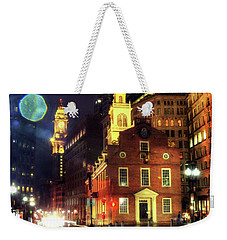 Weekender Tote Bag featuring the photograph Old State House - Boston by Joann Vitali