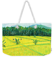 Weekender Tote Bag featuring the painting On The Way To Ubud II Bali Indonesia by Melly Terpening