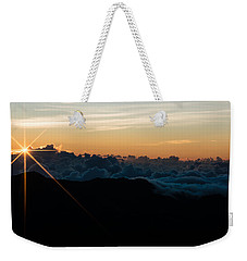 Weekender Tote Bag featuring the photograph On Top Of The World by Colleen Coccia