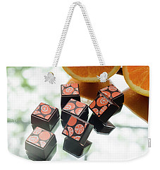 Orange Burst Weekender Tote Bag