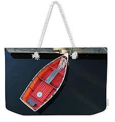 Orange Dinghy Weekender Tote Bag