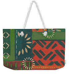 Orange Green Abstract Weekender Tote Bag