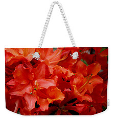 Orange Red Azaleas Weekender Tote Bag